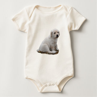Lab Puppy Sitting Baby Bodysuit