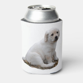 Lab Puppy Sitting Can Cooler