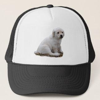 Lab Puppy Sitting Trucker Hat