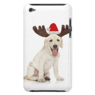 Lab Puppy Wearing Antlers Barely There iPod Cases