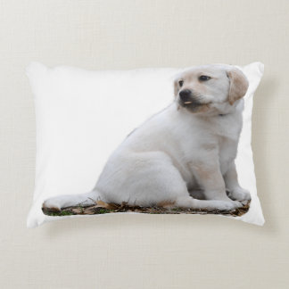 Lab Puppy With Head Turned Accent Pillow