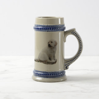 Lab Puppy With Head Turned Beer Stein