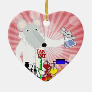 LAB RAT CHEMISTRY CERAMIC ORNAMENT