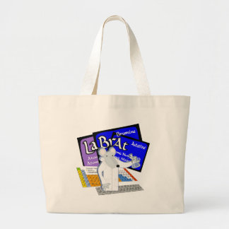LAB RAT SCIENTIST LABORATORY PERIODIC TABLE LARGE TOTE BAG