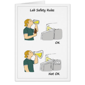 Lab Safety Rules Card