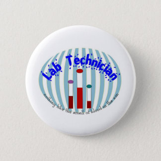 """Lab Tech  gifts""""Love the Smell of Blood in the AM"""" 2 Inch Round Button"""