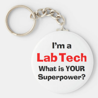 lab tech keychain