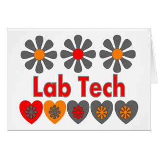 Lab Tech RETRO flowers Greeting Card