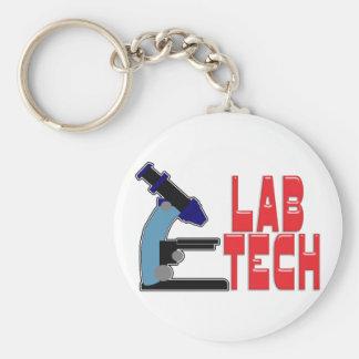 LAB TECH with MICROSCOPE Keychain