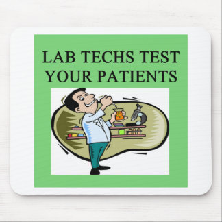 lab technician medical joke mouse pad