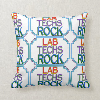 Lab Techs Rock Throw Pillow