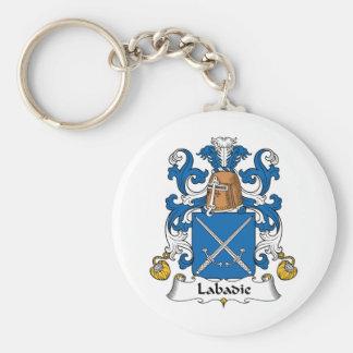 Labadie Family Crest Keychain