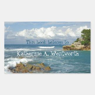 Labadie Seascape Personalized Bookplate Sticker