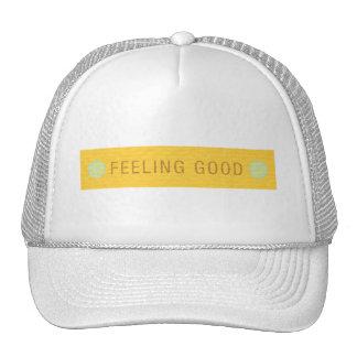 LABEL2 FEELING GOOD LAUGH HAPPY MOTTO SAYINGS ATTI TRUCKER HAT