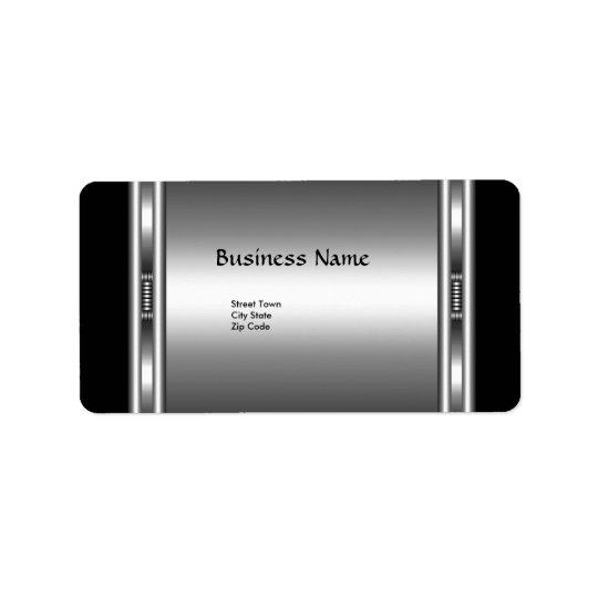 Label Elegant Black Silver Elite Chrome Business