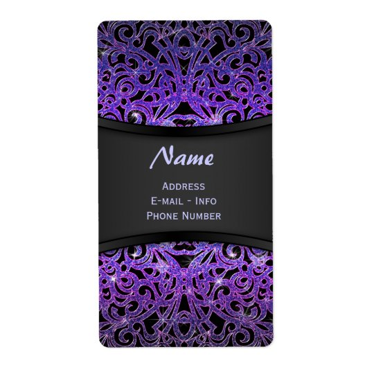 Label Floral abstract background Shipping Label