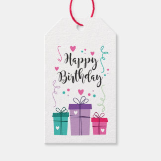 Label for gift Happy Birthday