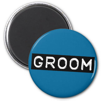 Label Groom 2 Inch Round Magnet
