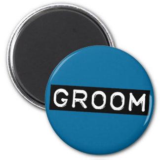 Label Groom 2 Inch Round Magnet
