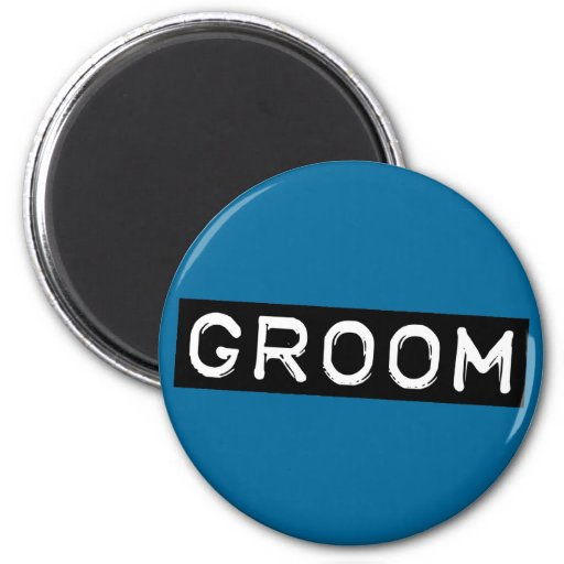 Label Groom Magnet