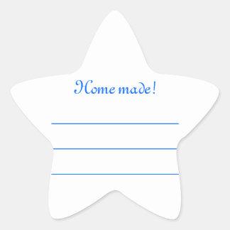 """Label jam blue """"Home made """""""