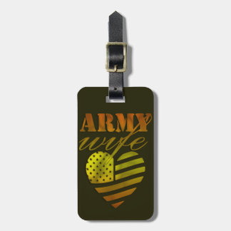 "Label of luggage ""ARMY Wife "" Luggage Tag"