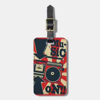 "Label of luggage ""Music On "" Luggage Tag"