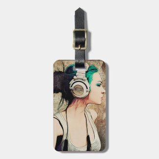 """Label of luggage """"Woman music """" Luggage Tag"""