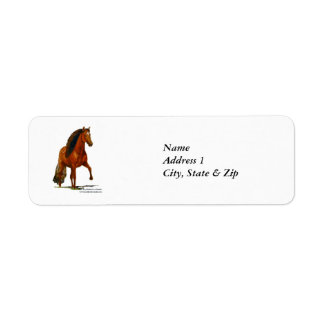 Label, Red Peruvian Paso Return Address Label