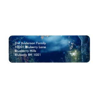 Label Return Address Night Woodlands Return Address Label