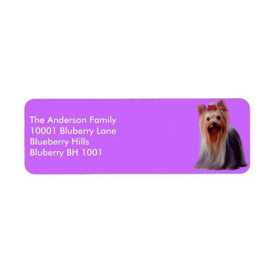 Label Return Address Yorkshire Terrier