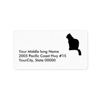 label - return - black cat