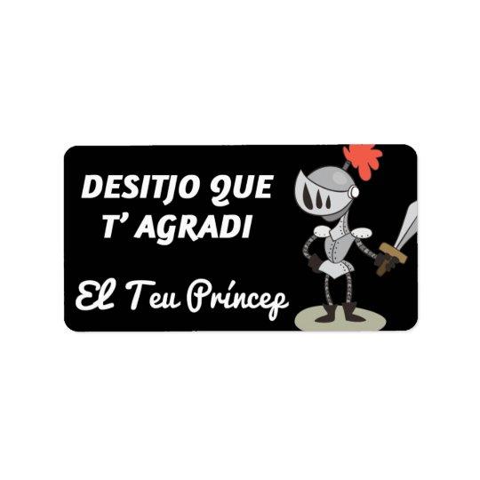 Label, Sant Jordi, Desitjo that t'agradi Label