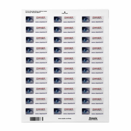 label sealing certified return address label