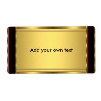 Label Sticker Black & Gold Large