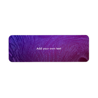 Label Sticker Peacock Feather Abstract Purple
