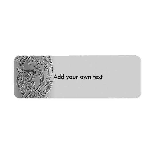 Label Sticker Silver Custom Return Address Label