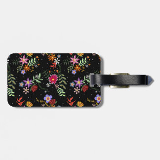 Label/Tag for Embroidered luggage Folk Luggage Tag