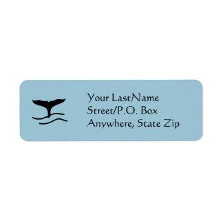 Label - Whale Flukes Return Address Label