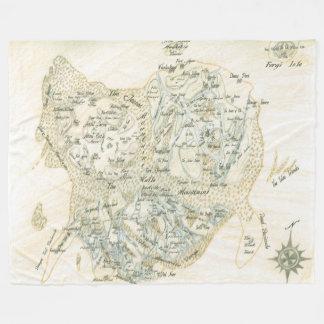 Labeled Map of Trino Fleece Blanket