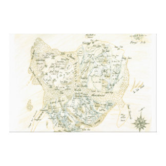 Labelled Map of Trino Canvas Print