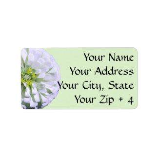 Labels/Gift Tags - Lemony White Zinnia