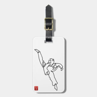 Labels with luggage DWICHAGI back kick Luggage Tag
