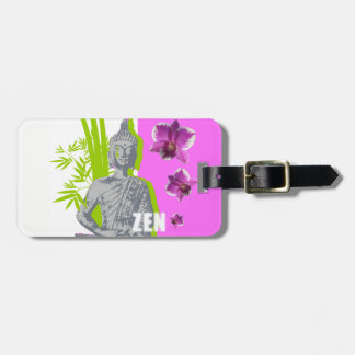 Labels with luggage with leather ZEN bond Luggage Tag