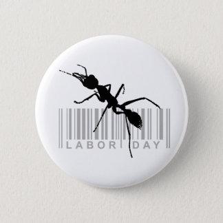 Labor day 2 inch round button