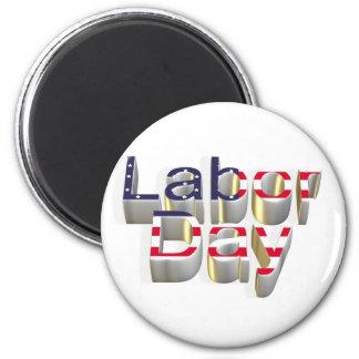 Labor Day - 6 September 2 Inch Round Magnet