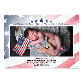 Labor Day Photo Birth Announcement
