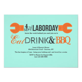 Labor Day Wrench Invitation