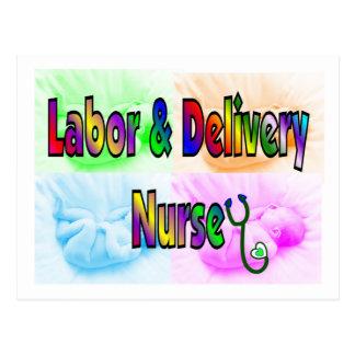 Labor & Delivery Nurse Postcard