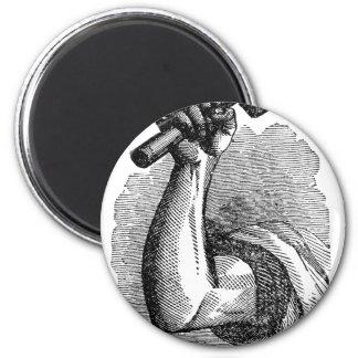 Labor Hand Holding Hammer Magnet